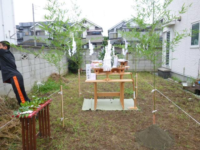 地鎮祭 祭壇