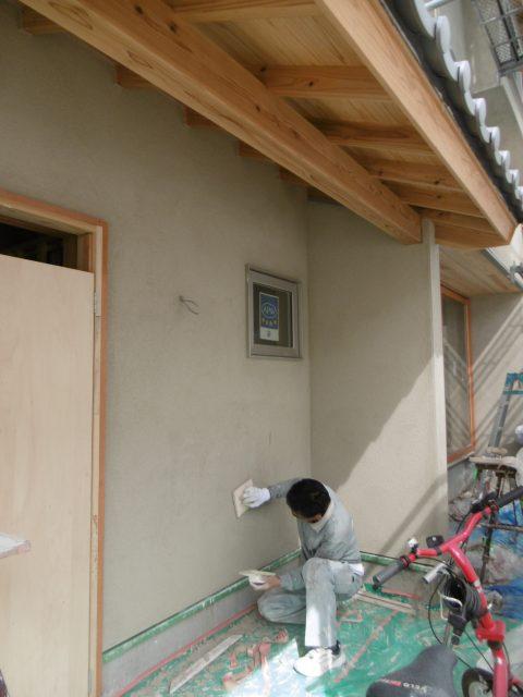 「和瓦と庭々の家」~外壁リシン塗り仕上げ~