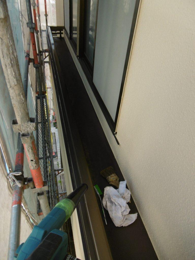 外壁塗装工事~間もなく足場解体~