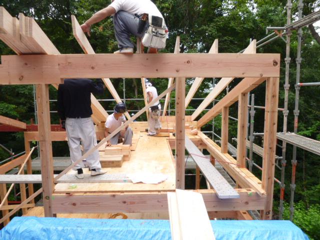 「森と暮らす家」 工事中の写真2