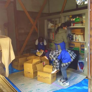 昭和初期の小屋を書庫に…
