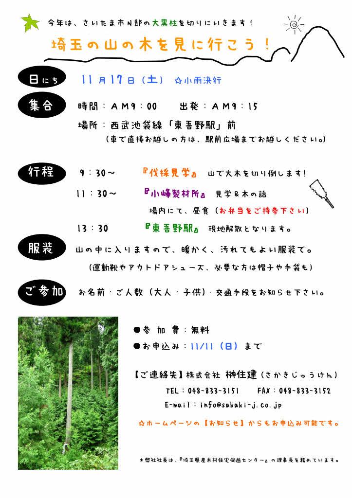 11/17(土)  【埼玉の山の木を見に行こう!】  at 飯能