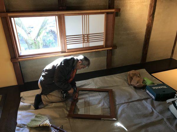 日本茶喫茶・ギャラリー『楽風』にて修繕工事