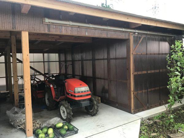倉庫・農作業小屋 工事完了